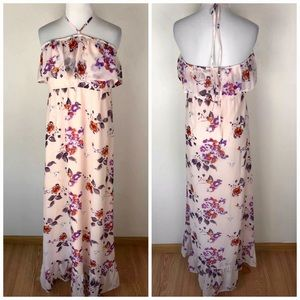 MINKPINK Pink Floral Maxi Dress